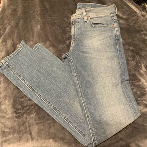 7 for all mankind slimmy blue jeans sz 33 EUC